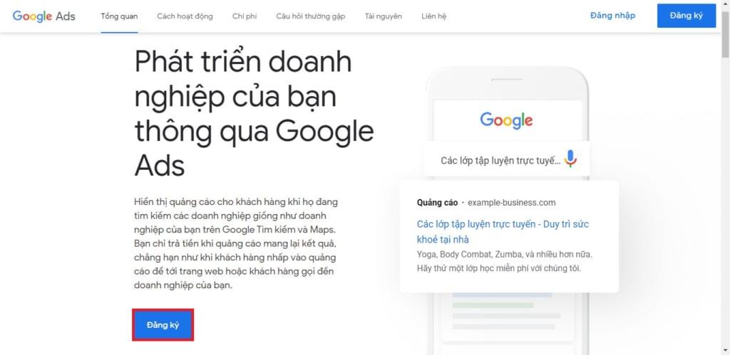 cách tạo tài khoản google ads